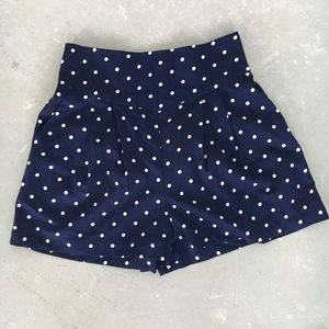 UO Kimchi Blue Polkadot Satin Shorts